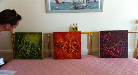 Gregory Wright's work at the 5th International Encaustic Conference Hotel Fair