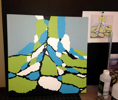 Lisa Marie Sipe and her straight edge acrylic painting process.