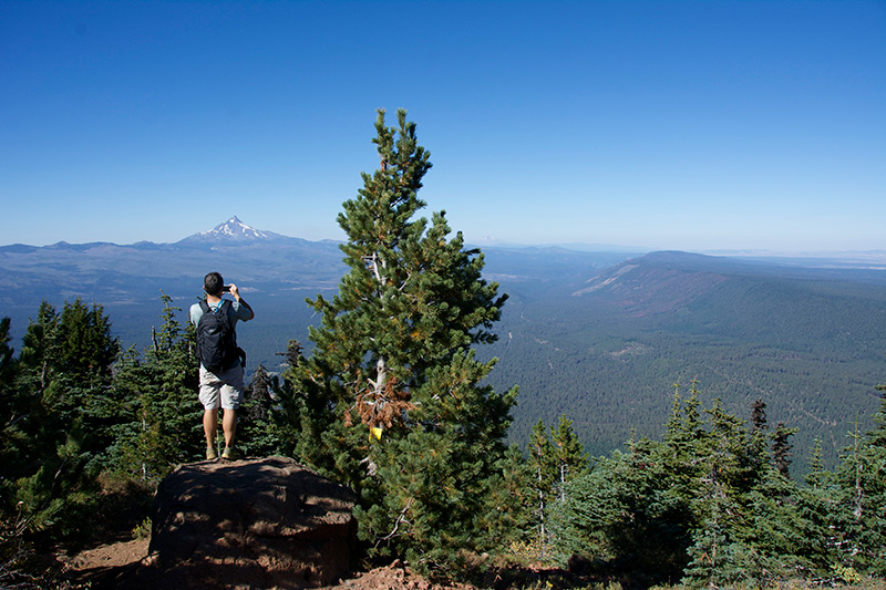 Top of Black Butte Sisters, Oregon