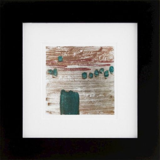 """Ducking"" encaustic monoprint by Lisa Marie Sipe"