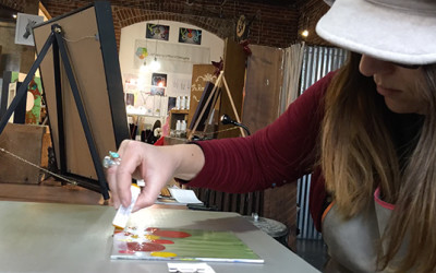 Encaustic Monoprinting Time-Lapse