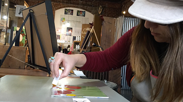 Encaustic Monoprinting Time-Lapse video from Lisa Marie Sipe