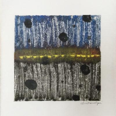 Glimmer, encaustic monoprint, Lisa Marie Sipe