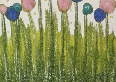 """Spring"" encaustic monoprint from Lisa Marie Sipe"