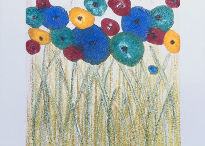 Signs of Spring, encaustic monoprint, Lisa Marie Sipe