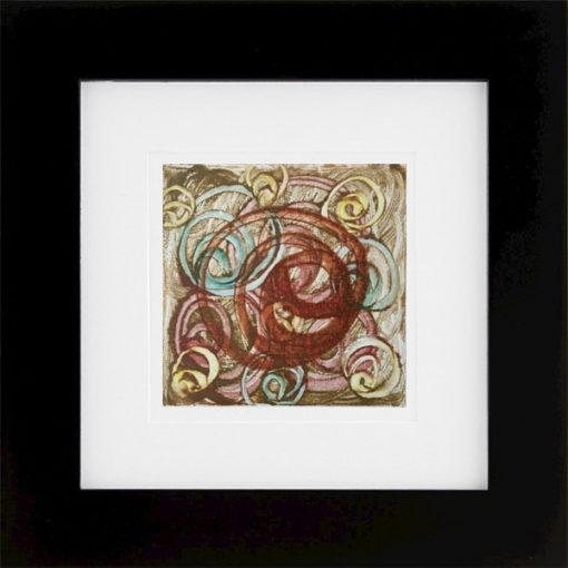 Whorled, encaustic monoprint, Lisa Marie Sipe
