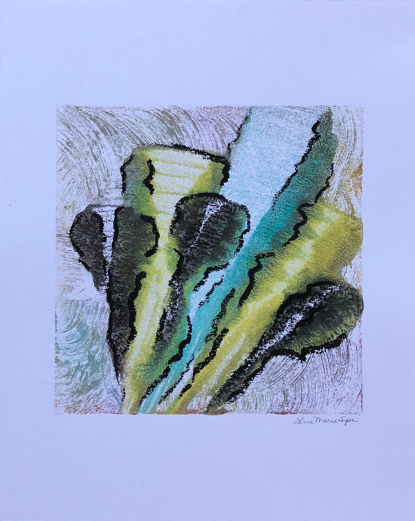 Whirlwind of Time IX abstract encaustic monotype by Lisa Marie Sipe